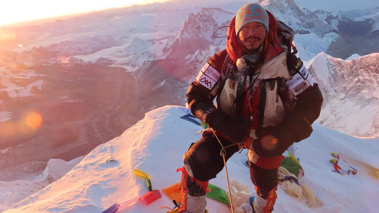 Nirmal Purja standing at the summit of Mount Everest on May 22, 2019. Picture: AFP/Nirmal 'Nims' Perja (Bremont Project Possible)