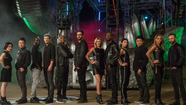 The 12 hosts of the six versions of Ultimate Beastmaster.