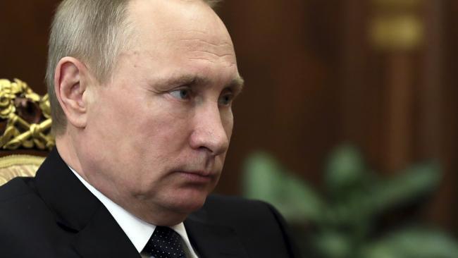 Vladimir Putin. Picture: Mikhail Klimentyev/Sputnik/Kremlin Pool Photo/AP