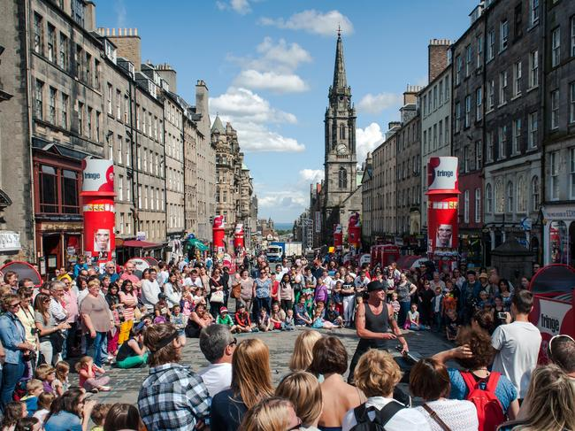 71. LAUGH AT EDINBURGH FESTIVAL Scotland's Edinburgh Fringe Festival is the holy grail of comedy gigs. Not only do the shows deliver plenty of ROFLs, but the whole city comes alive with street performances and frivolity for the whole three-week festival.