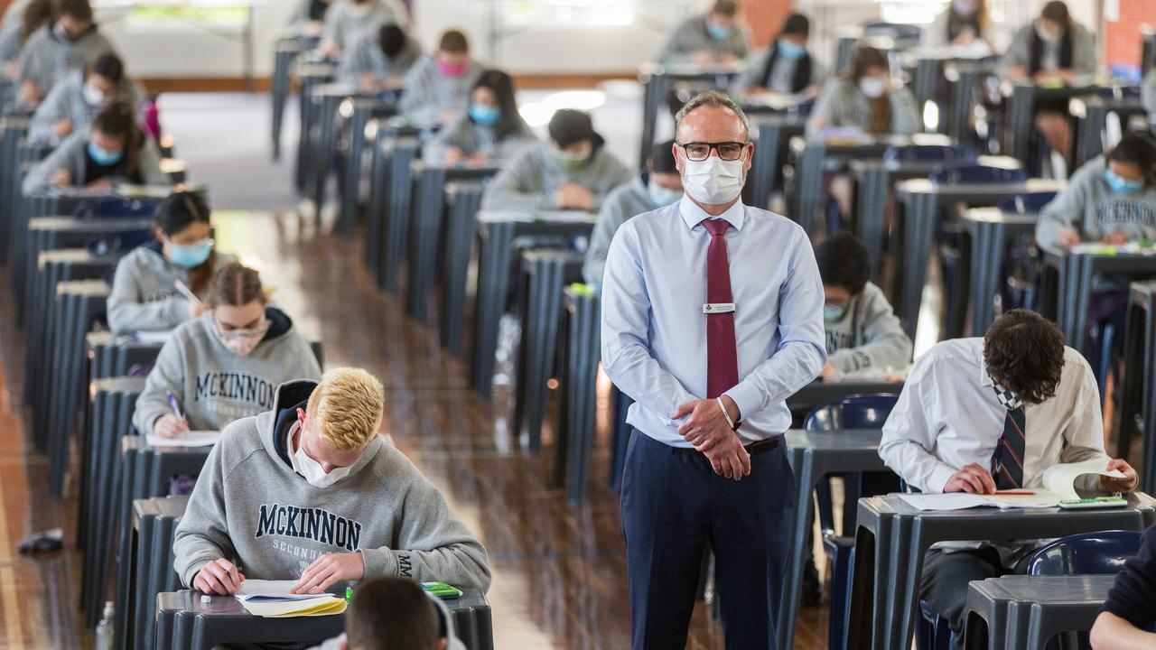 The opposition is concerned year 12 students won't be vaccinated fast enough before their exams in five weeks. Photo: Paul Jeffers/The Australian