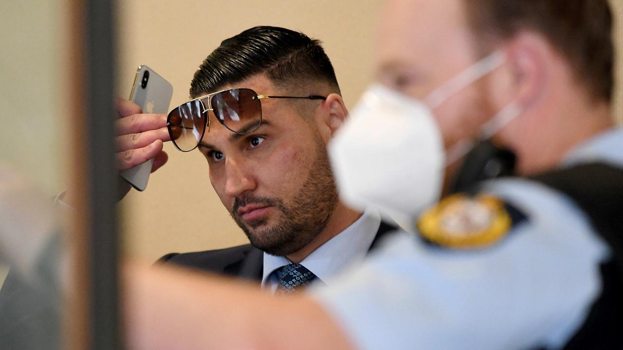 Salim Mehajer (above at court) is back behind bars for Xmas after his bail was revoked ahead of his sentencing next year. Picture: Bianca De Marchi/NCA NewsWire