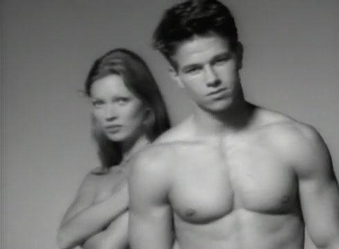 Kate Moss and Mark Wahlberg for Calvin Klein