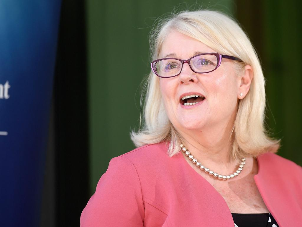 Technology Minister Karen Andrews wants social media giants to be consistent in their decision to ban users. Picture: Matt Taylor