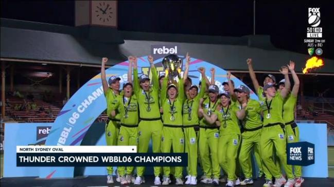 Thunder crowned WBBL champions