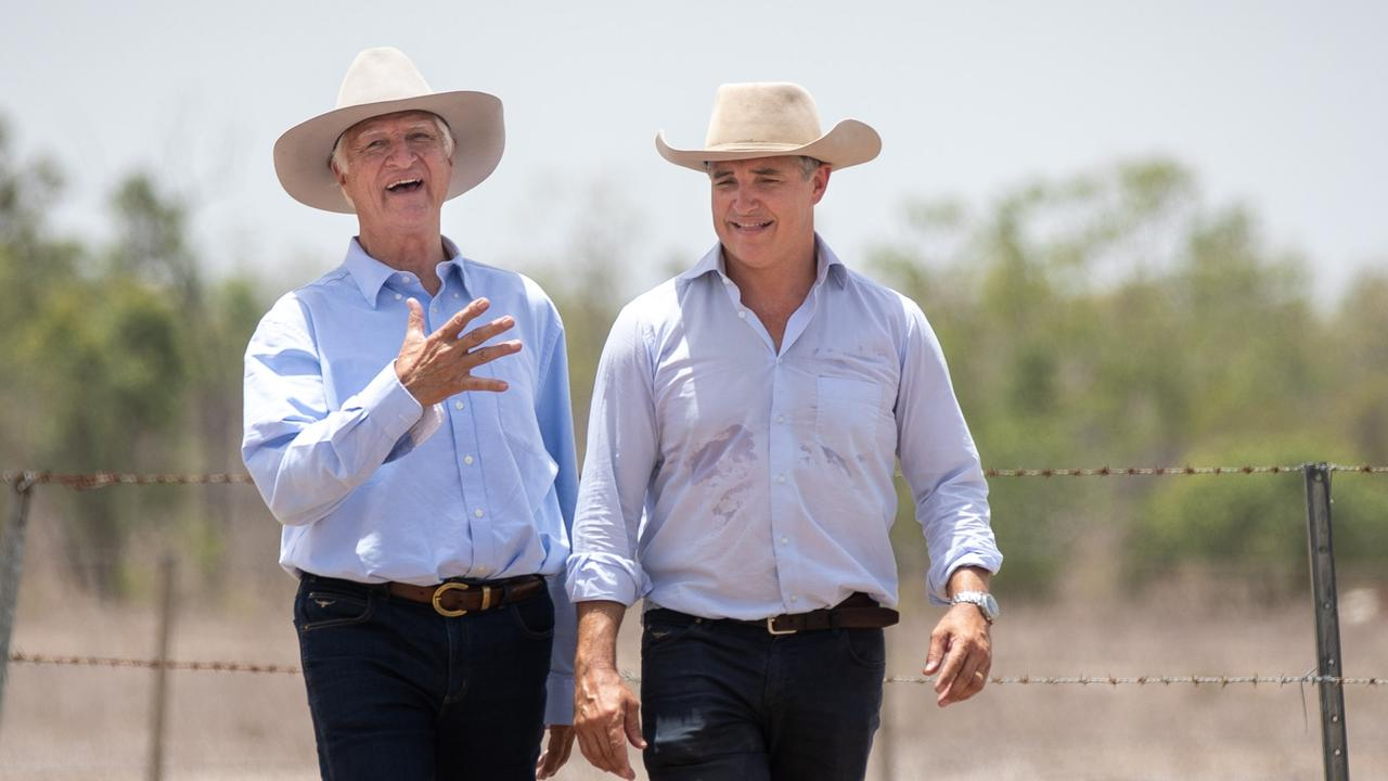 Bob Katter will be passing the baton to his son Robbie. Picture: Cameron Laird