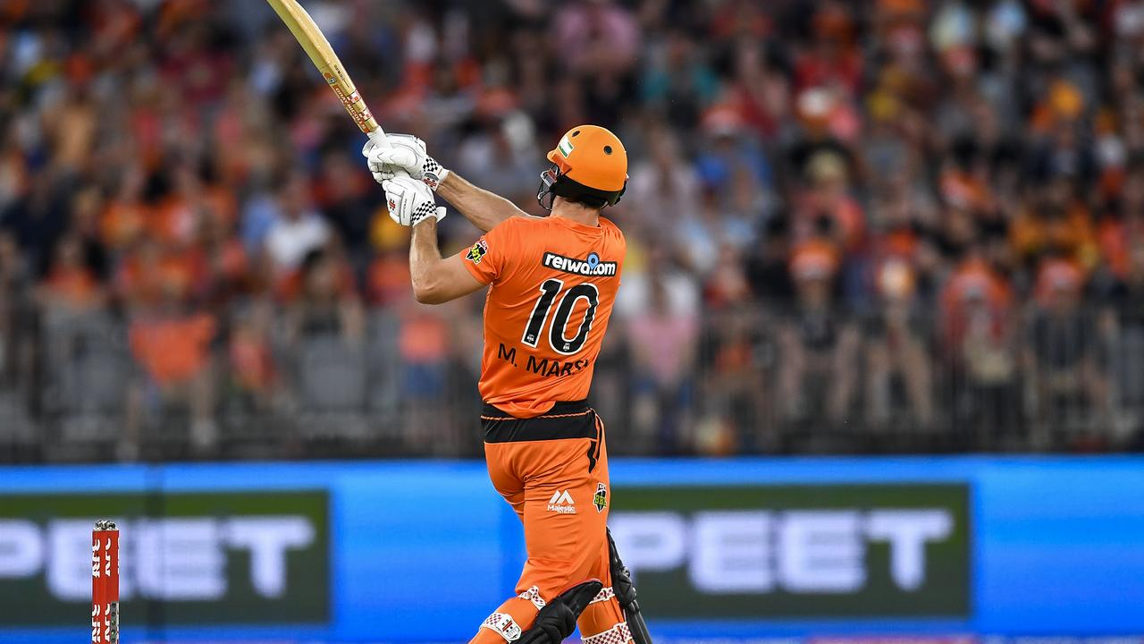 Mitch Marsh his eight sixes in a brilliant knock.