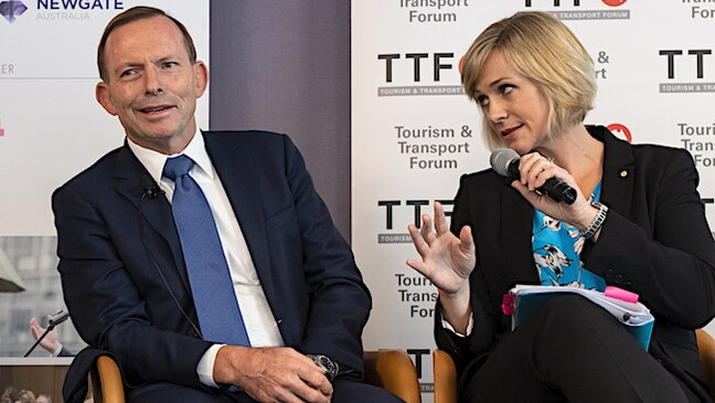 """Would you mind?"": Abbott and Steggall clash over climate"