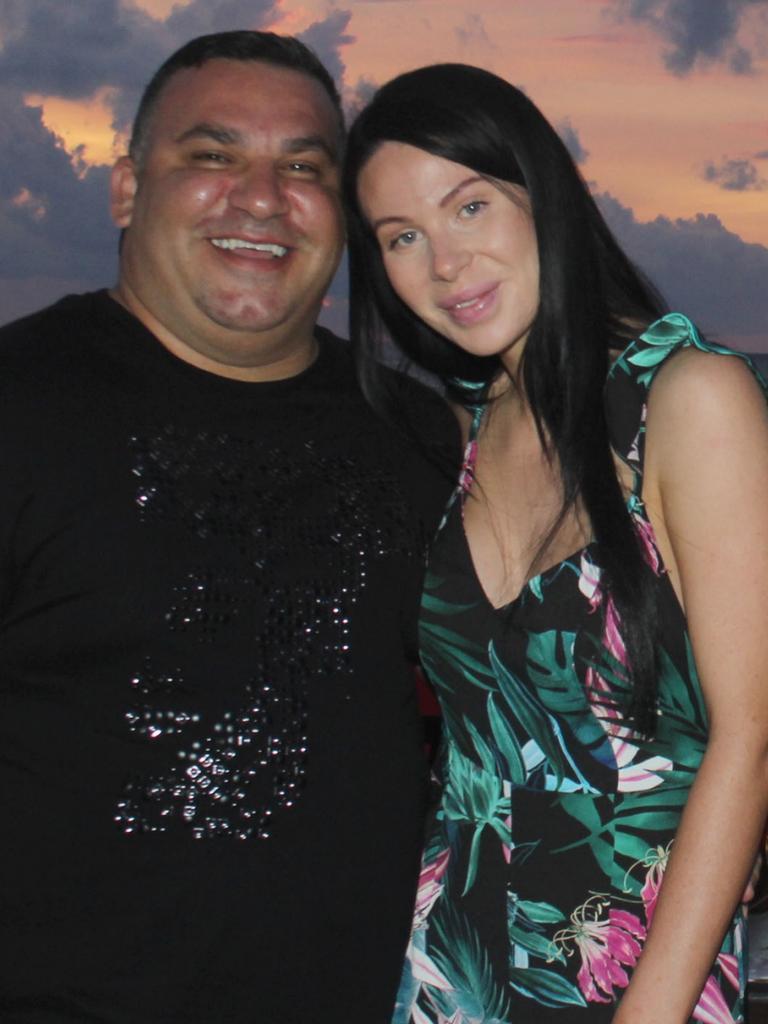 Michael Ibrahim and his wife Caitlin Hall on a tropical holiday.
