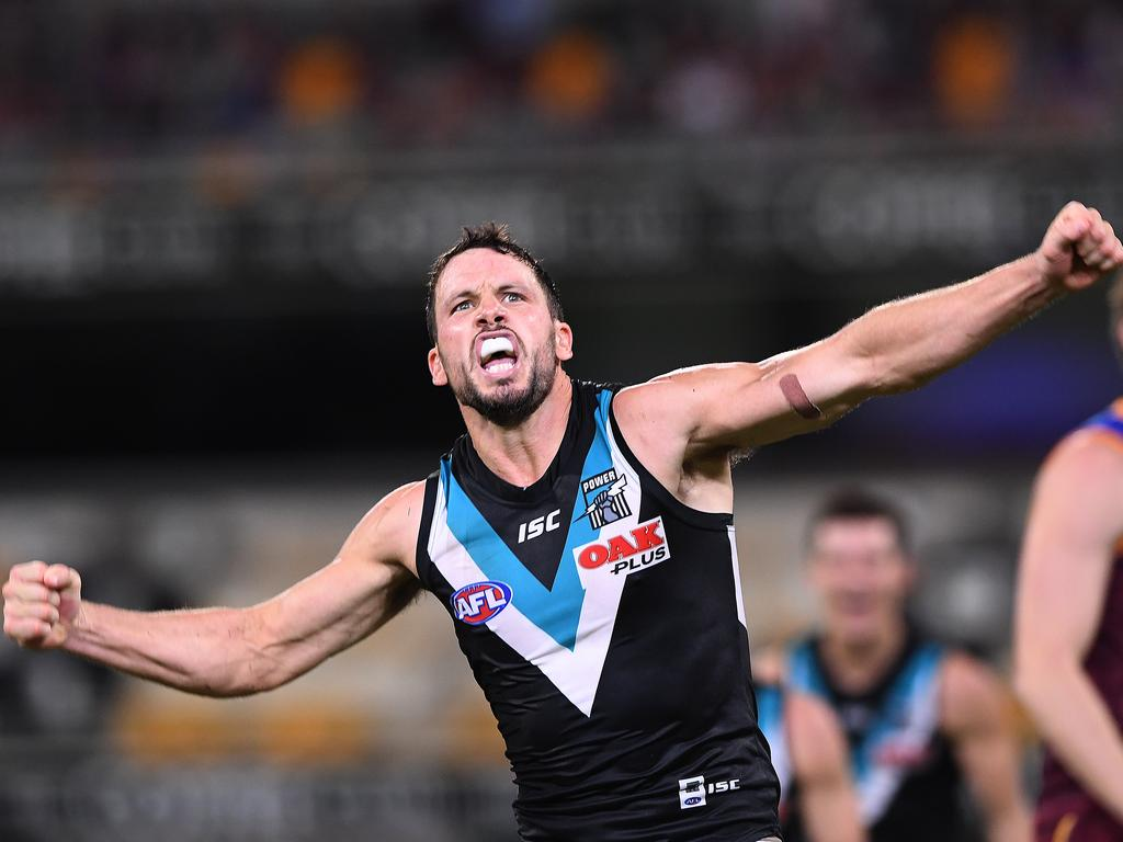 Travis Boak of the Power is one of the premium FWD choices in SuperCoach in 2019; will you select him as skipper in Round 14?