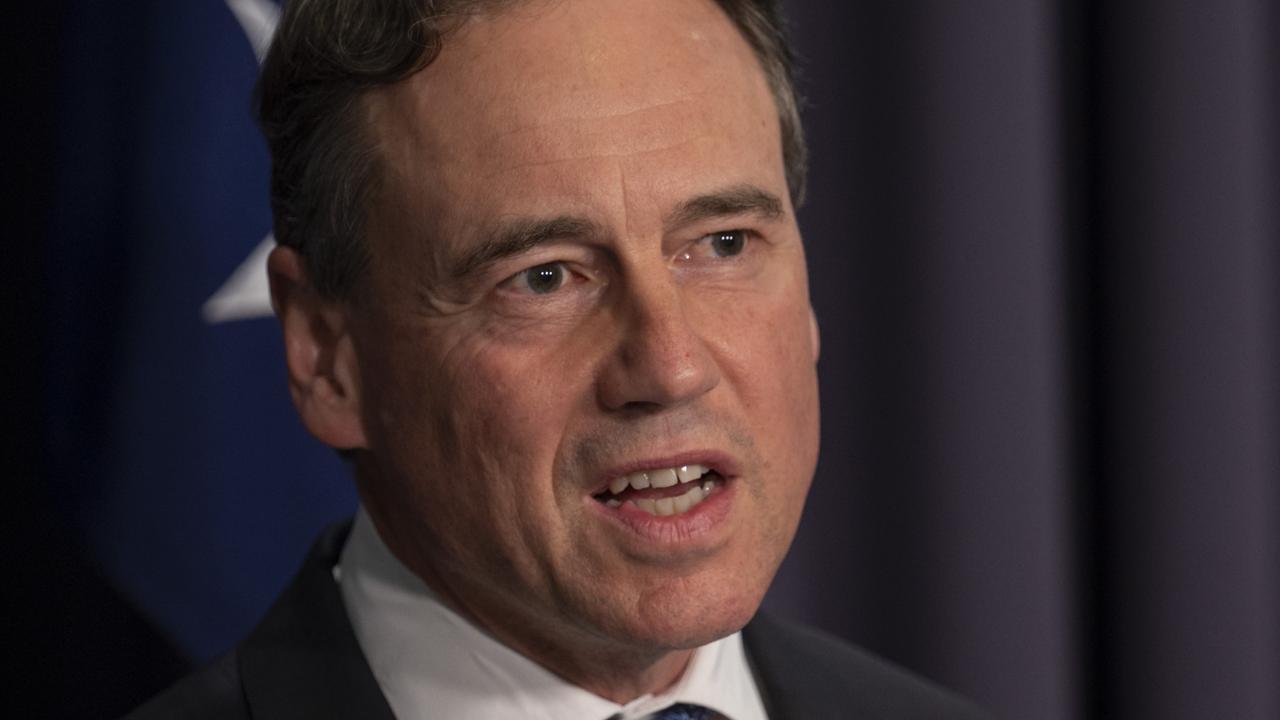 Federal Health Minister Greg Hunt. Picture: NCA NewsWire/Martin Ollman