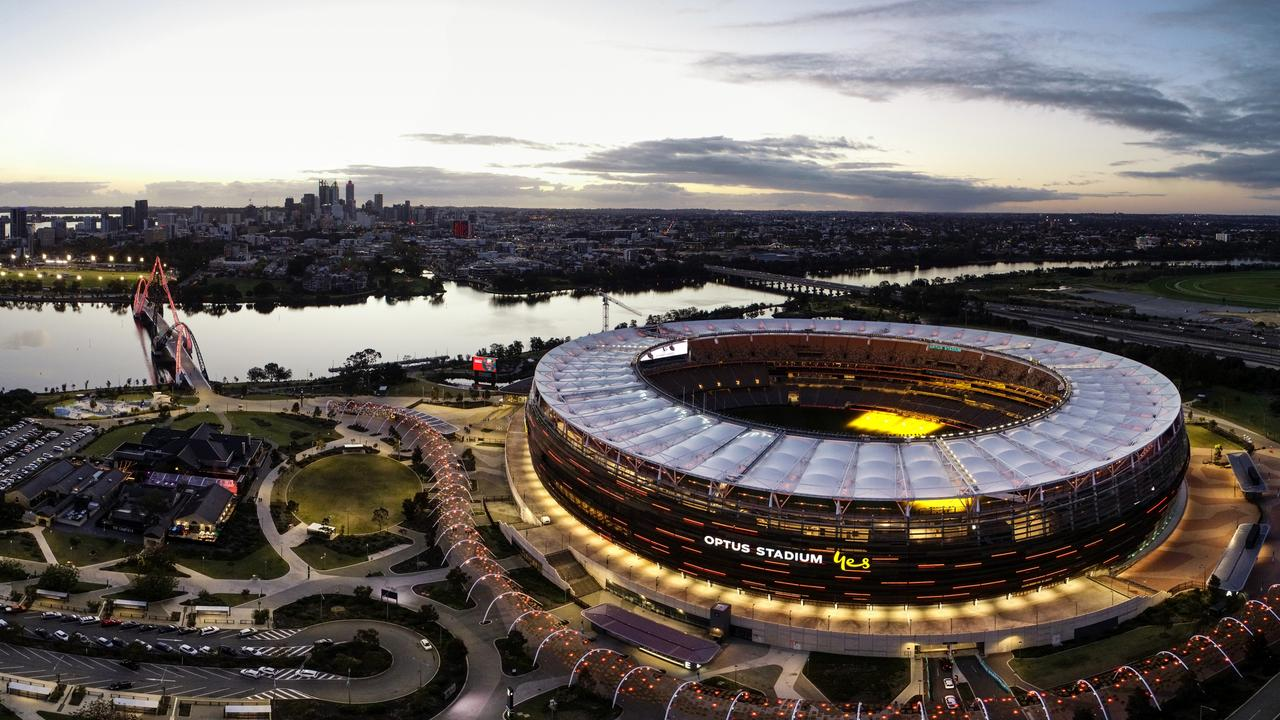 The home of football - for this week only. Photo by Dylan Burns/AFL Photos via Getty Images.