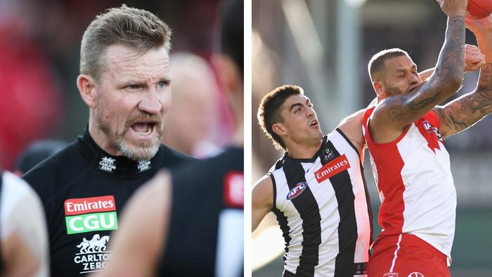 The 3-2-1: Nathan Buckley, Brayden Maynard and Lance Franklin.