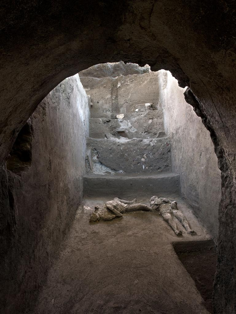 They were found during ongoing excavations. Picture: AFP/Pompeii Archaeological Park/Luigi Spina