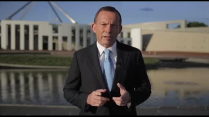 What's that behind you Mr Abbott?