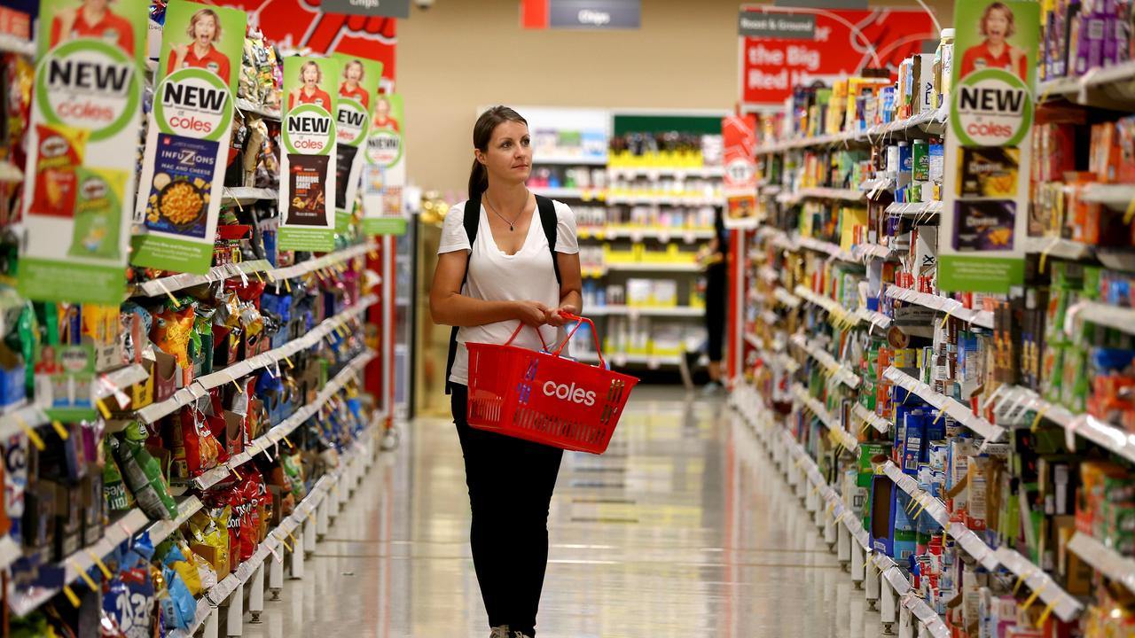 Almost $11bn worth of Exclusive to Coles product sales during the year was a rise of 5 per cent. Picture: David Clark/AAP