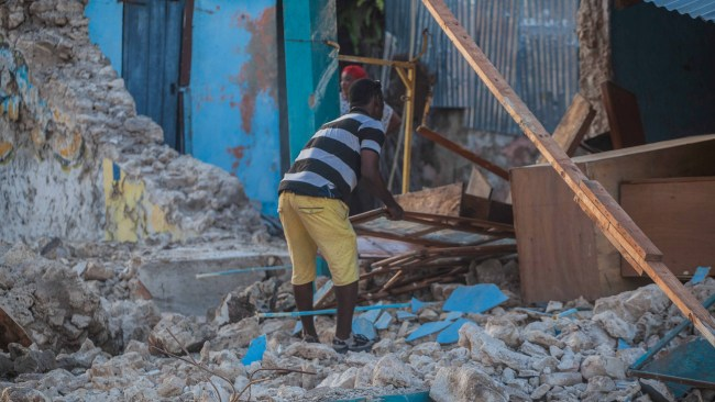 The epicentre was located about 100 miles west of the capital city Port-au-Prince. Picture: Getty Images
