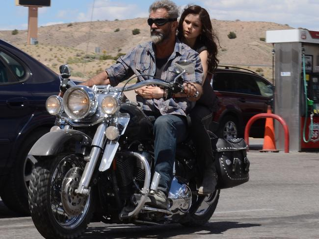 Mel Gibson with his on-screen daughter Erin Moriarty in a scene from film Blood Father. Picture: Supplied