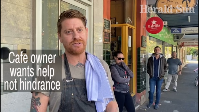 Cafe owner wants help not hindrance