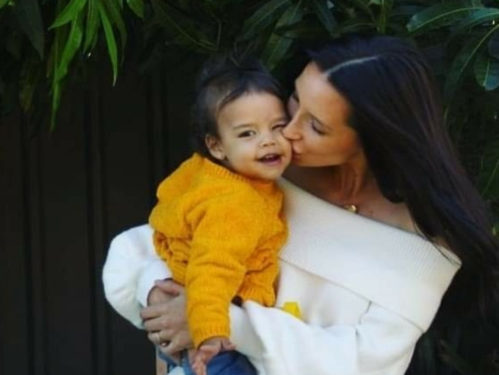 After noticing Mila was unable to sit up they rushed her to The Children's Hospital in Westmead. Picture: Supplied