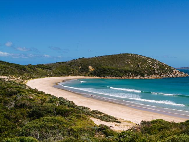 WILSONS PROMONTORY Three hours southeast of Melbourne, Wilsons Promontory National Park is the place to retreat from the bustle of city living and dig your hands into nature. Enjoy bush walks, camping, fishing and surfing. If you're partial to a spectacular vista, climb the granite mountaintops for Pillar Point, Norman Lookout or Mount Oberon Summit. Camping is available, as are contemporary cabins and glamping. Picture: Visit Victoria / Roberto Seba