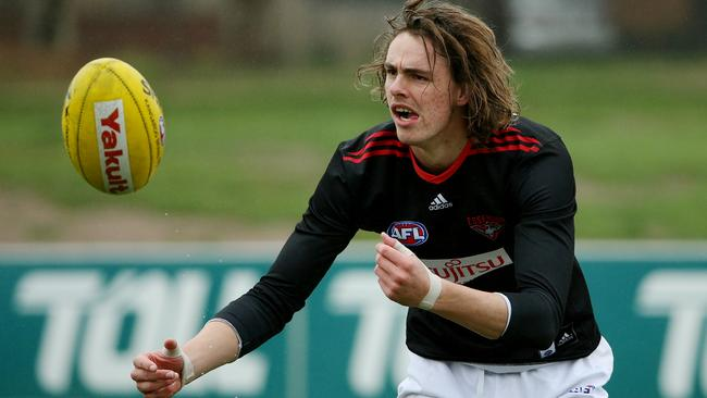 Joe Daniher works his way back from injury. Picture: Colleen Petch