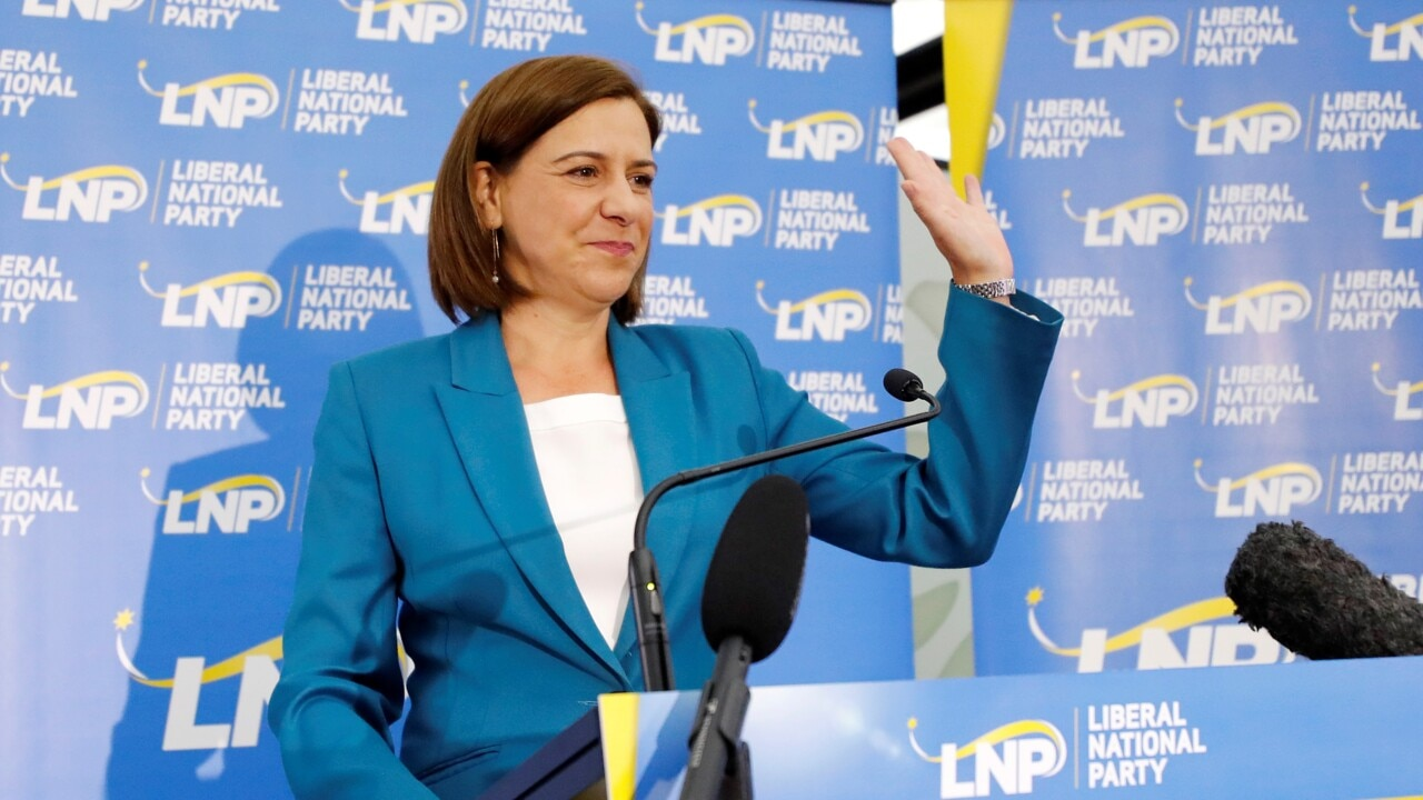 Deb Frecklington concedes defeat following a Labor victory