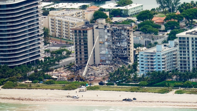 More than 300 residents of a water-front high-rise in North Miami Beach have been ordered to evacuate after the building was deemed structurally and electrically unsound. Picture: AP