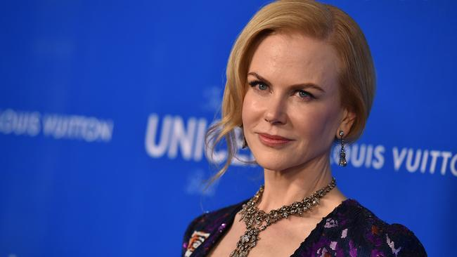 Nicole Kidman arrives at the Sixth Biennial UNICEF Ball at the Beverly Wilshire Four Seasons Hotel on Jan. 12, 2016 in Beverly Hills, Calif. (Photo by Jordan Strauss/Invision/AP)