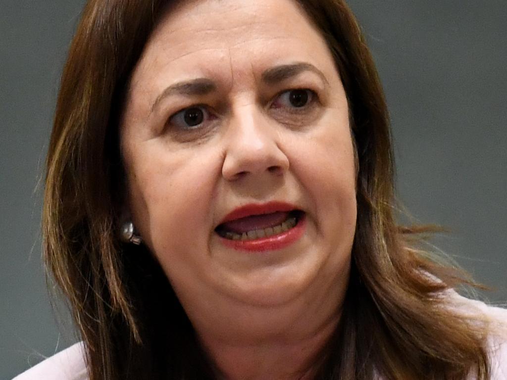 BRISBANE, AUSTRALIA - NewsWire Photos - OCTOBER 14, 2021.  Queensland Premier Annastacia Palaszczuk speaks during Question Time at Parliament House.   Picture: NCA NewsWire / Dan Peled