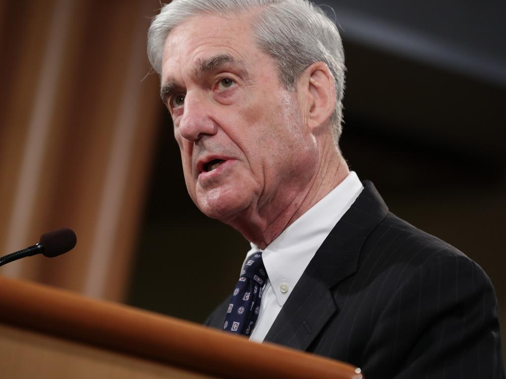 Special counsel Robert Mueller said he was bound the Justice Department policy, which does not allow charging a sitting president with a crime. Picture: AFP