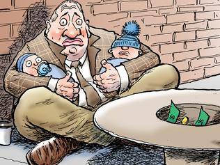 Mark Knight's cartoon on Barnaby Joyce crying poor on $200K a year