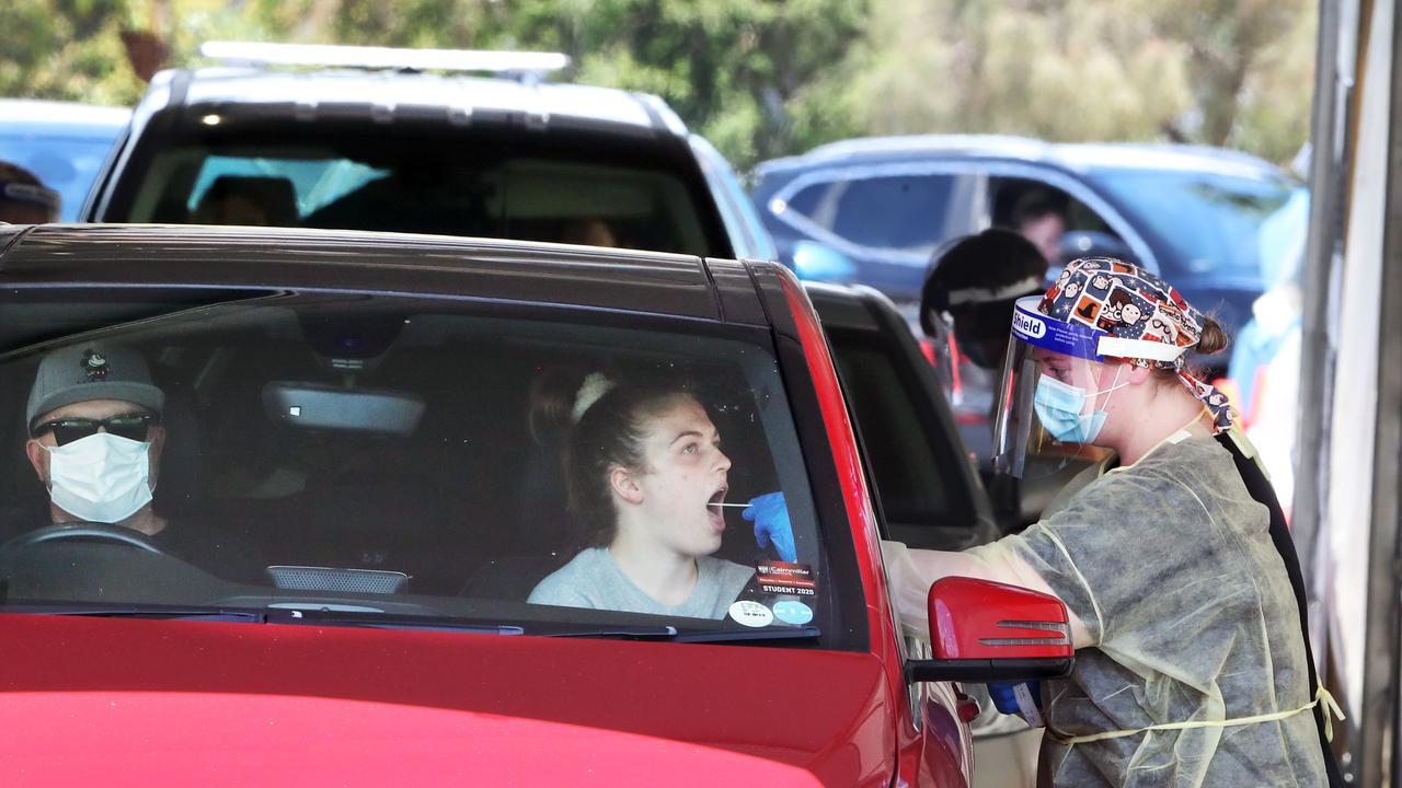 Victoria recorded 10 cases on Saturday. Picture: NCA NewsWire/David Crosling