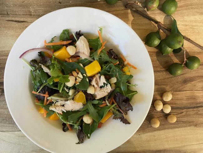 Chicken and mango salad with macadamias. Picture: Jenifer Jagielski