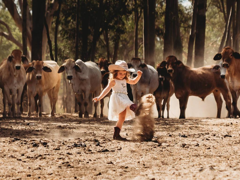 Francesca Hick, 2, of Antrim Station south of Hughenden. Picture: Lindy Hick Photography