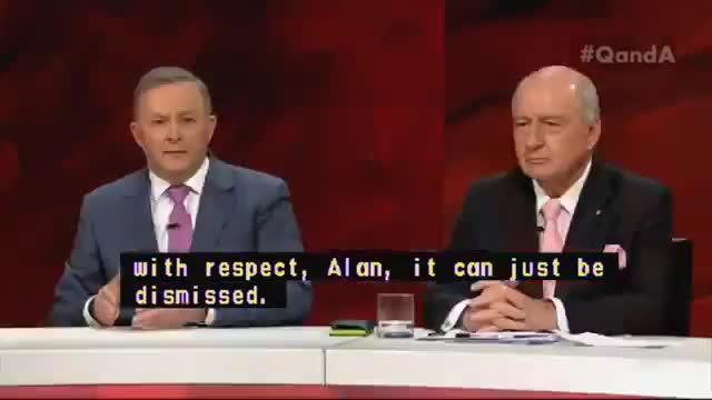Alan Jones thinks some of the politicians need to toughen up ( ABC Q&A )