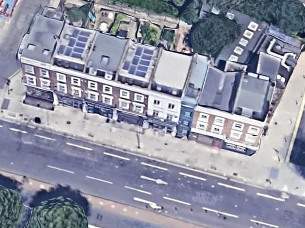 The narrow house seen from above. Picture: Google