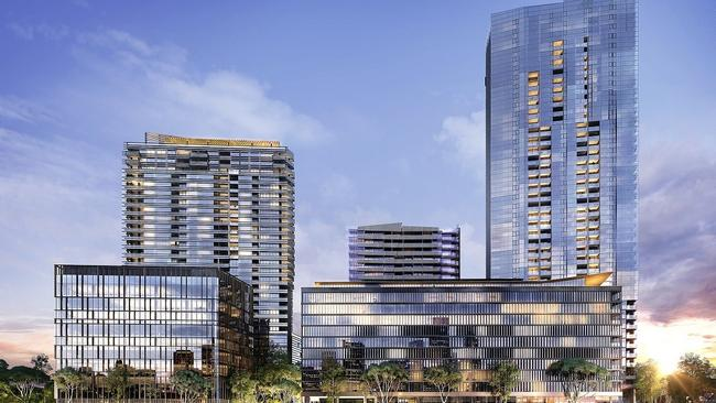 An artist's impression of new apartments in Parramatta.