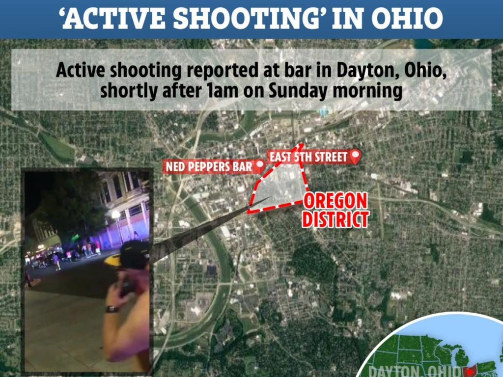 Ned Peppers Bar in Dayton, Ohio is the scene of the latest mass shooting in America.