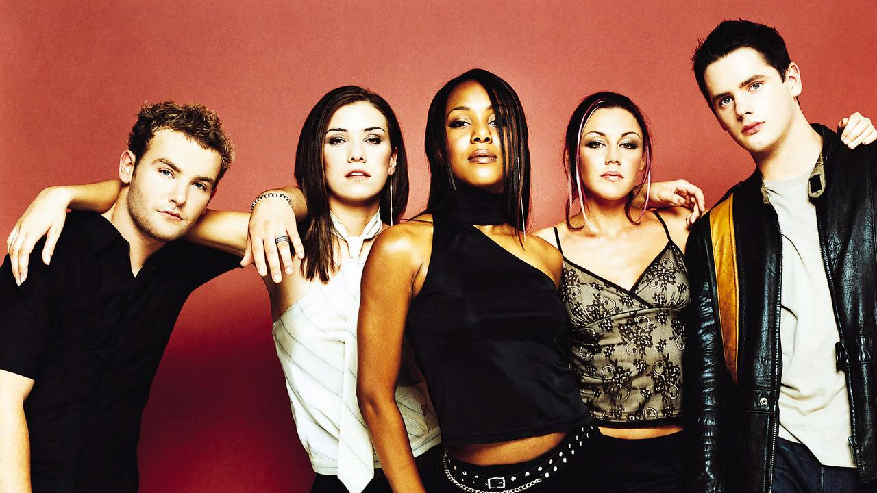 Heaton (second from right) found fame in the early noughties pop group Liberty X.