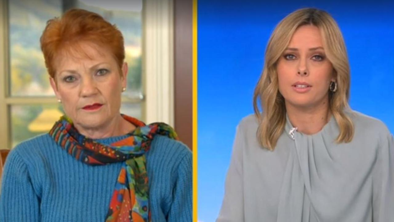 Pauline Hanson said she's sick of 'people bleeding bloody hearts out there'. Picture: Today
