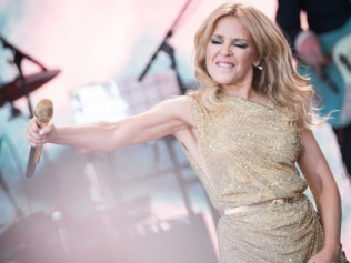 Kylie Minogue made an emotional return to Glastonbury. Source: Getty Images