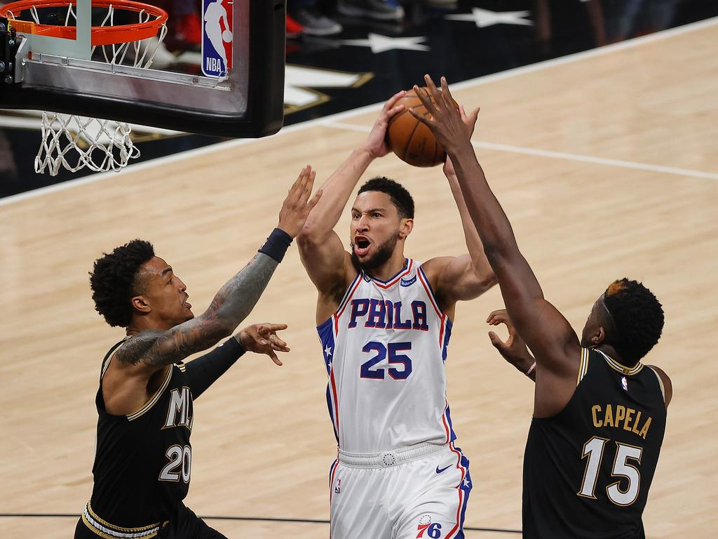 Simmons was nowhere near aggressive enough against Atlanta. (Photo by Kevin C. Cox/Getty Images)