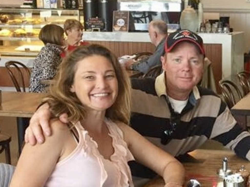 Charles Evans (right) with Alicia Little, who died after his car struck her, has walked from jail and is in Sydney hotel quarantine.