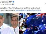 Federal Queensland MP Andrew Laming has been criticised for his posts about Australia Day.
