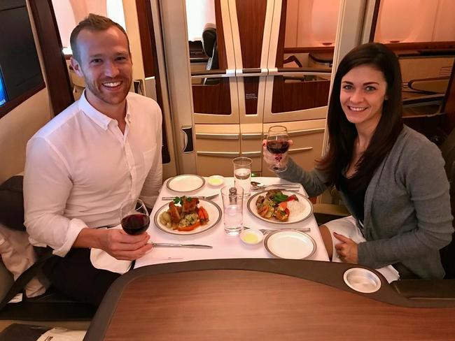 Dining in the skies. Picture: Upgraded Points