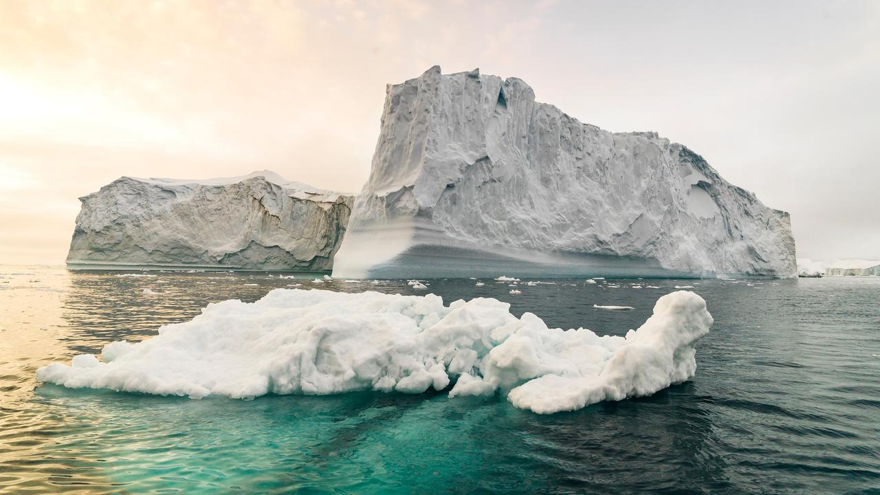 Huge icebergs off the coast of Greenland. Picture: istock