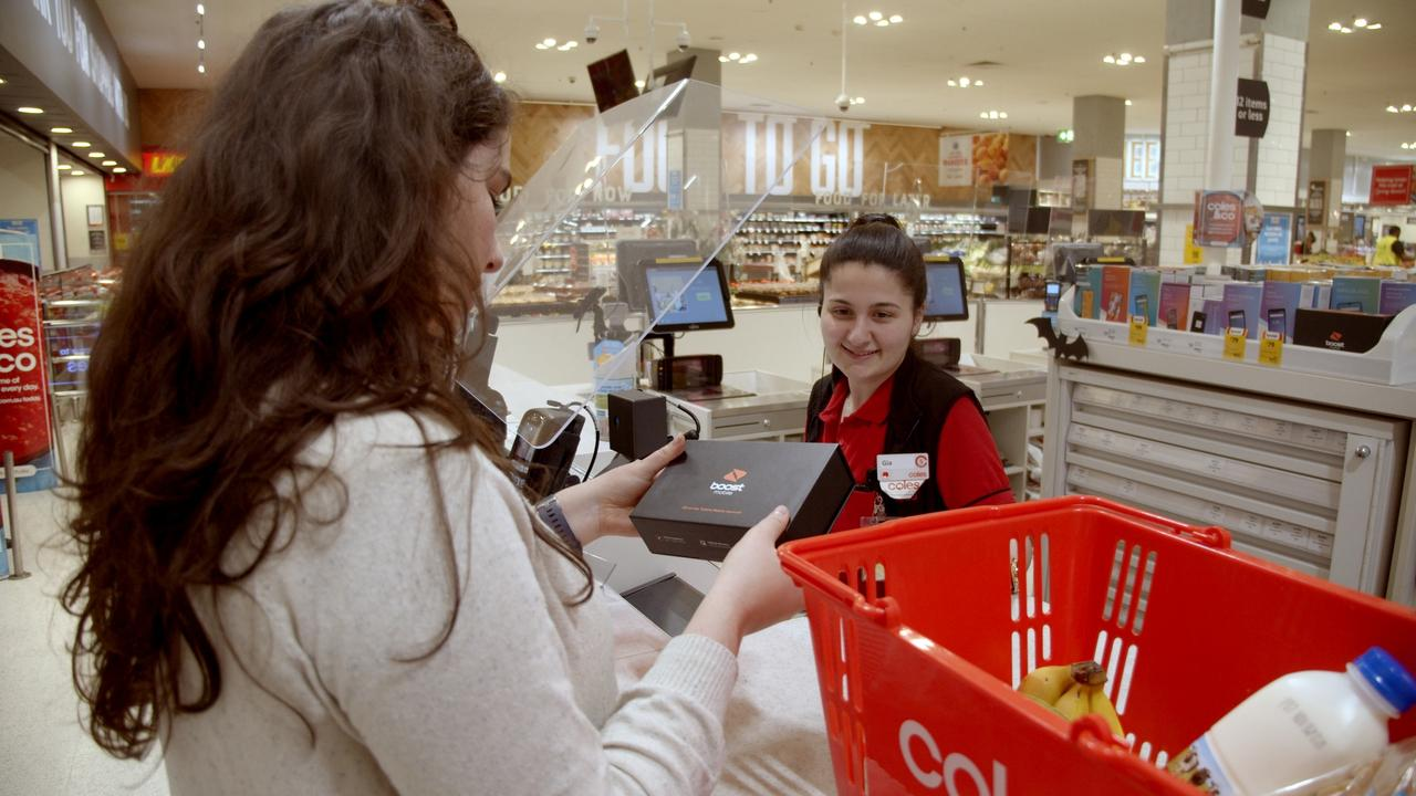 Coles shoppers will soon be able to get themselves an iPhone along with their weekly shop. Source: Supplied.