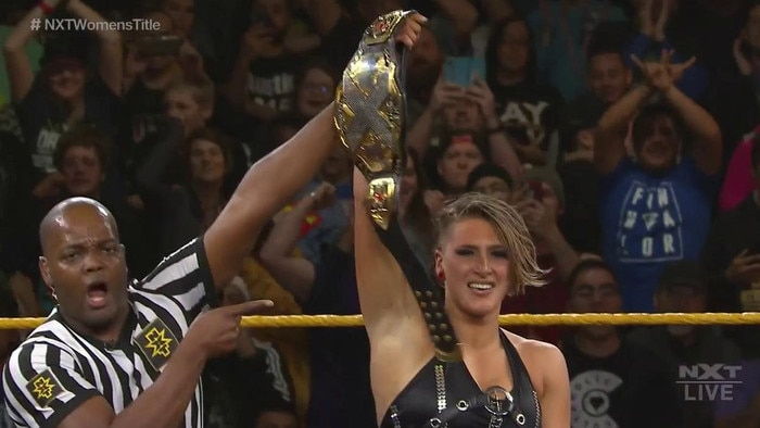 Adelaide's Rhea Ripley is awarded the NXT Women's Championship.