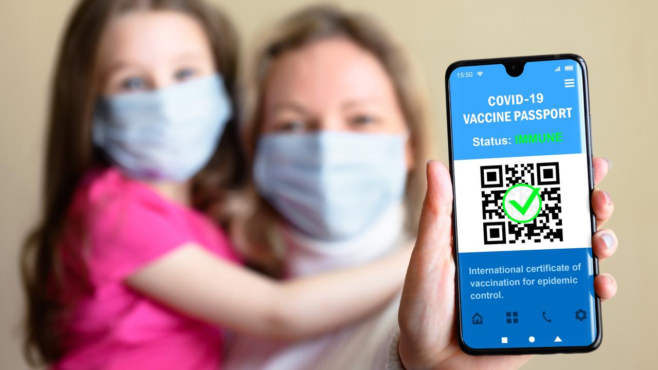 Vaccine passports in other countries use a QR code as a security feature. Picture: iStock